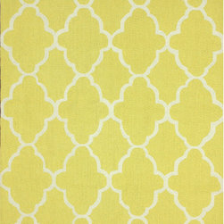 Nuloom - nuLOOM Handmade Wool Moroccan Trellis Yellow Rug (7'6 x 9'6) - Invoke the feel and warmth of a country home with this stunning woolen trellis hand-hooked rug. Meticulously made using a petit point stitches construction,make your favorite space feel right at home.