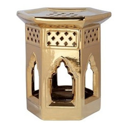 Safavieh Moroccan Ceramic Garden Stool, Gold - A fabulous find from Kohl's, this Moroccan garden stool in gold is exotic to the max.