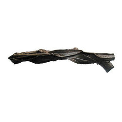 """Inviting Home - Leafy Twig Pull - Right (dark brass) - Hand-cast Leafy Twig Pull - Right in dark brass finish ; 4-7/8""""W x 7/8""""H; Product Specification: Made in the USA. Fine-art foundry hand-pours and hand finished hardware knobs and pulls using Old World methods. Lifetime guaranteed against flaws in craftsmanship. Exceptional clarity of details and depth of relief. All knobs and pulls are hand cast from solid fine pewter or solid bronze. The term antique refers to special methods of treating metal so there is contrast between relief and recessed areas. Knobs and Pulls are lacquered to protect the finish. Alternate finishes are available."""