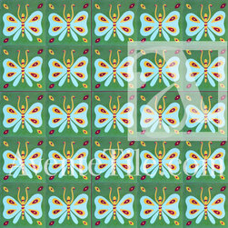"""Artist Series Elsa Nuñez Mariposa 10"""" x 10"""" - Cement tile pattern created by Dominican Republic artists that elevate cement tile to functional art."""