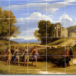 Picture-Tiles, LLC - The Dance Of The Seasons Tile Mural By Claude Lorrain - * MURAL SIZE: 24x30 inch tile mural using (20) 6x6 ceramic tiles-satin finish.