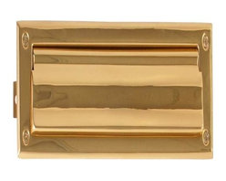 Brass Accents - Brass Accents Mail Slot, 13 X 3 5/8 Inch, Pvd Polished Brass A07-M0010-PVD - Brass Accents Mail Slot, 13 X 3 5/8 Inch, Pvd Polished Brass