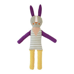 Funny Bunny Modern Doll - Add playful patterns to the nursery with toys!