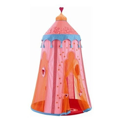 HABA - Marrakesh Hanging Tent - Little ones and parent alike will adore this beautiful hanging tent! The unique pattern and ornate detail make this the perfect addition to any playroom, family room, or children's room. Sheer mesh sides provide privacy, yet let in enough light to read a book or play a game. Perfect for a nap or a tea party!