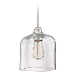Jeremiah Lighting Chrome Mini-Pendant Light with Bowl / Dome Shade -