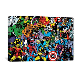 Marvel Comics Canvas Print, Character Full Lineup - Museum-quality canvas print by Marvel gallery wrapped and ready for wall hanging with no additional framing required. The canvas print is remarkably bright in color and unrivaled in detail with quality ink that has been light-tested to last over 100 years!