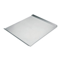 Chicago Metallic - Chicago Metallic Commercial II Large Cookie Sheet - Avoid the dreaded Boing! You know the sound. It's when you put the cookie sheet in the oven and it warps. It's when the French fries slide and the cookies run into each other. With this commercial heavy-duty sheet, you'll never hear that sound again.