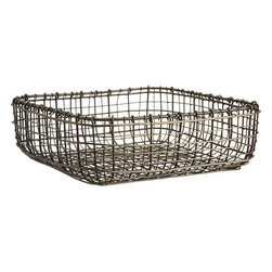 Bendt Basket - Organize your desk, kitchen, closet or laundry room with this retro-looking metalwork Bendt basket.