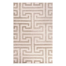 Jaipur Rugs - Hand-Tufted Geometric Pattern Wool/Art Silk Ivory/Gray Area Rug (2 x 3) - Classic shapes and motifs synonymous with contemporary style are transformed through the artistic vision of home fashion icon Raymond Waites in his Midtown Collection. Unique scale and unexpected pops of color highlight this spirited range ��� showcasing a broad spectrum of different designs ranging from geometrics, organics, stripes and animal prints. Hand-tufted and hand-loomed pieces in wool and plush accents of art silk, gain greater visual and textural interest through the thoughtful use of carving, high-low pile and tuft and loop combinations. The Midtown collection brings a myriad of high style options for an affordable price.