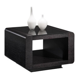 Creative Furniture - Paris End Table in Espresso Finish - Creative Furniture - Featuring amazing black finish and rectangular top Paris End Table will be the perfect solution for your living room. Extra space in the middle adds accent to its unique design as well as extra storage space. The table is constructed from the modern quality wood materials in the black wenge finish that will both make your living room decor appear updated and refined.