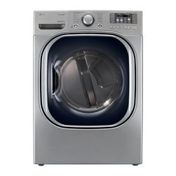 LG  7-2/5-cubic-foot Steam Gas Dryer, Graphite - If you tend to wash a lot of laundry or have a big family, don't forget a good dryer in your happy home. Pick a strong yet ecofriendly model — that will also match your aesthetics. This LG model in graphite with an almost rectangular bull's-eye front has smart programs that will help you dry your laundry perfectly and reduce ironing.