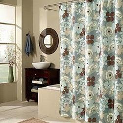 Pop Art Garden Fabric Shower Curtain - Plow & Hearth