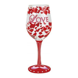Westland - 9 Inch Red Love Elegant 15 Ounce Wine Glass Covered in Hearts - This gorgeous 9 Inch Red Love Elegant 15 Ounce Wine Glass Covered in Hearts has the finest details and highest quality you will find anywhere! 9 Inch Red Love Elegant 15 Ounce Wine Glass Covered in Hearts is truly remarkable.