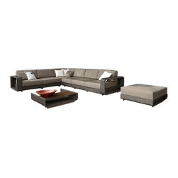 ELB Outdoor - ELB Outdoor Santa Ana Wicker Sectional - You'll love the flexibility you get from a modular patio set just like the ELB Outdoor Santa Ana All-Weather Wicker Sectional Set. Get yours now and experience what the Santa Ana All-Weather Wicker Sectional has to offer.