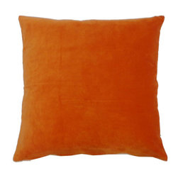JITI - Orange Velvet Pilow - Who can resist a classic? With this velvet throw pillow, available in oodles of sizes and colors, you won't have to! Ideal for mixing and layering, go ahead and experiment. Change your look as often as you can move this one here, and that one there. Anywhere it lands, it's a perfect fit.