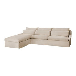 Lino | Sambre Sectional Sofa - Available in Slipcovered and Upholstered