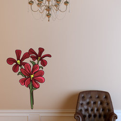 Floral Flower Vinyl Wall Decal FloralFlowerUScolor116; 12 in. - Vinyl Wall Decals are an awesome way to bring a room to life!