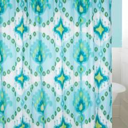 Levtex Home - Bukhara Shower Curtain - Ensure some privacy while bathing in your otherwise hectic household using this colorful shower curtain. Plus, it is machine washable for easy cleaning.   72'' W x 72'' H 65% polyester / 35% cotton Machine wash; tumble dry Imported