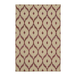 """Nourison - Nourison Spectrum SPE02 2'6"""" x 4' Beige Burgundy Area Rug 21564 - With its playful symbolic pattern, subtle sheen, refined hues of burgundy and cream, and sensational tone and texture this enchanting hand-woven rug is certain to lend an effortless �lan to any area."""