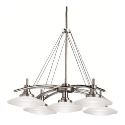 Kichler - Kichler Structures Unique Pendant Light Fixture in Brushed Nickel - Shown in picture: Kichler Pendant 5Lt Halogen in Brushed Nickel