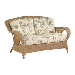 Whitecraft - Whitecraft Boca Loveseat - Be transported with our transitional classically styled seating and dining design reminiscent of woven leisure furniture from the early 1900s. Boca's All-Weather traditional herringbone and kenning weave patterns are accented with an open cane weave offset by the wide back and armrests creating a playful and relaxed outdoor setting. Available in Natural and Coffee finishes to complement a variety of decors.As firm believers in tradition and a strong belief in the art of craftsmanship Woodard has acquired Whitecraft Furniture the longest-lasting wicker company in the U.S. While wicker is known for its strength and durability those attributes are overshadowed by the ingenuity and elegance of Whitecraft furniture. Handcrafted and built to last. Whitecraft by Woodard is the beautiful woven patio furniture counterpart to Woodard's wrought iron and aluminum lines. With a variety of styles and finishes to fit your outdoor needs. Escaping to your own private outdoor oasis soothes the soul. Whether you're looking to create a casual seating area a sophisticated outdoor dining space or a complete outdoor room you'll find everything you need right here. Make a personal style statement—elegant exotic traditional modern or transitional—whether you have a covered porch deck pool-side patio or garden nook. We have the styles finishes fabrics and designs to fit any need. Whitecraft patio furniture has been creating hand-crafted patio furniture for almost 100 years. Whitecraft patio furniture quality designs and comfort have allowed Whitecraft the opprotunity to enlarge their offerings year after year.