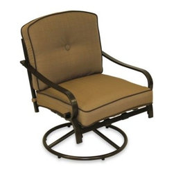 Pride Family Brands Inc. - Cushioned Swivel Rocker - Cushioned Swivel Rocker offers a comfortable, stylish seat for outdoor use. Can be used around patios, balconies and more.