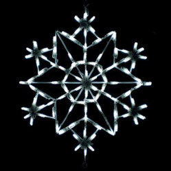 28 in. Outdoor LED Snowflake Kaleidoscope Display - 100 Bulbs