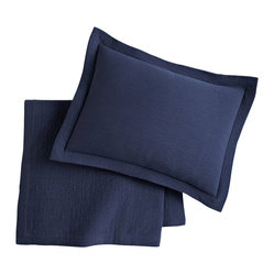 Bradley Coverlet, Twin, Navy