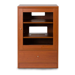 Jesper - Jesper - Entertainment Collection - Media Cabinet - Cherry - This high-performing Entertainment Collection is cleverly designed making it easy to create the ideal media space in a small corner or large airy space.