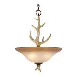 Vaxcel Lighting - Vaxcel Lighting PD33088 Lodge 4 Light Bowl Pendant - Product Features: