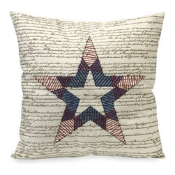 IMAX CORPORATION - Declaration of Independence Pillow - In beautiful script typography, the Declaration of Independence pillow features a quilted star great for patriotic decor. Find home furnishings, decor, and accessories from Posh Urban Furnishings. Beautiful, stylish furniture and decor that will brighten your home instantly. Shop modern, traditional, vintage, and world designs.
