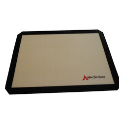 "Artisan Baker Company - Silicone Baking Mat - Silicone Baking Mat - 11 5/8"" x 16 1/2"" With Beveled Corners To Ensure Best Fit -  Non Stick Surface Eliminates The Need For Cooking Sprays And Parchment Paper - Cook Healthier Without Oils, Butter, & Spray Oils - Easy To Clean, Food Slides Right Off Of The Baking Mat - No Soaking Or Scrubbing Your Bakeware!"