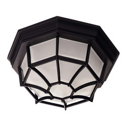 Savoy House - Savoy House Exterior Collections Flush Mount Ceiling Fixture in Black - Shown in picture: Decorate your favorite outdoor spaces to bring a sense of style Al Fresco!