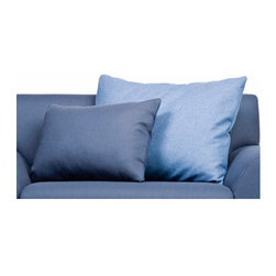 """Knoll � - Cini Boeri Throw Pillow - The Design A modern lounge environment for the home or office, the Cini Boeri Lounge Collection combines traditional upholstery with a sleek and modern European design aesthetic. Generous proportions allow users to rest and relax making this a true """"lounge"""" collection. The Cini Boeri Throw Pillow is available in two sizes and comes in several fabric options to complete your living room set! *This product is made to order and thus customer orders cannot be canceled once the products go into production Features at a Glance: Design Year: 2008 -Includes one pillow only -Available in two sizes -Choose from several fabric options -Pillows are composed of a 50/50 blend of recycled polyester and bamboo fiber Dimensions: -Small Pillow: 2"""" H x 24"""" W x 18"""" D -Large Pillow: 2"""" H x 31"""" W x 24"""" D Order with Confidence: -Sustainability Statement: Sustainable design is a key component of Knoll's environmental focus. Knoll's commitment to social responsibility and a healthy environment has prompted the company to further articulate its longstanding environmental programs and, with encouragement and support from colleagues in the industry, Knoll has re-energized its focus on such """"green"""" initiatives as life cycle analysis and LEED certification. Knoll is proud to have contributed to projects that have received LEED certification from the U.S. Green Building Council. -Knoll products are guaranteed to be free from defects in materials and workmanship during the applicable warranty period set forth in the Knoll Warranty -Should you discover shortly after receiving your Cini Boeri Throw Pillow that parts are either damaged or missing, please call us immediately, and we will be happy to send you replacement parts as soon as possible and at no additional cost. . -Each authentic Knoll product is stamped with the KnollStudio Logo and designer signature and includes a certificate of authenticity."""