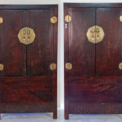 Antique Chinese Square Corner Elm Cabinet - Antique Chinese Square Corner Elm Cabinet