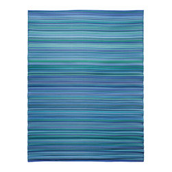 KOKO - Melange Floor Mat, Bubble Gum Blue Mix, 6' x 8' - The colors of this floor mat are a pretty addition to any casual area, indoors or out. You'll love the look — and the easy care: just hose clean and drip dry.