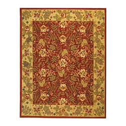 Safavieh - Safavieh Chelsea Country & Floral Hand Hooked Wool Rug X-8-C041KH - 100% pure virgin wool pile, hand-hooked to a durable cotton backing. American Country and turn-of-the-century European designs. This collection is handmade in China exclusively for Safavieh.