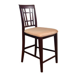 Atlantic Furniture - Atlantic Furniture Montego Bay Oatmeal Fabric Pub Chair (Set of 2)-Espresso - Atlantic Furniture - Bar Stools - AD773201 - The Atlantic Furniture Montego Bay Pub Chairs are constructed from Eco-friendly solid hardwood and have an elegant wood finish. This set of two pub chairs feature an Oatmeal colored seat cushion. The Montego Bay Pub Chairs are perfect for a casual dining room setting.