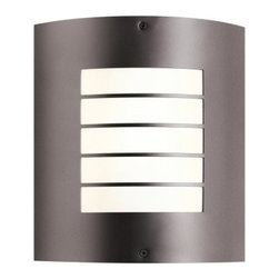 Kichler Newport 10640 Outdoor Wall Lantern - 9.5 in. - Outdoor wall lanterns are great for illuminating and adding to the beauty of your outdoor space. One lighting fixture that'll serve this purpose well is the Kichler Newport 10640 Outdoor Wall Lantern - 9.5 in. Stainless steel construction provides durability and sturdiness, while its elegant finish gives it grace and charm. Featuring one-bulb capacity, this lighting option can light an 18-watt bulb. This energy-efficient light fixture also adheres to the requirements of the California Energy Code (Title 24).Kichler QualitySince 1938, Cleveland-based Kichler Lighting has been known for their innovative designs and excellent craftsmanship. Kichler is the world's leading decorative lighting fixture company and the winner of four ARTS Lighting Manufacturer of the Year awards. Kichler designers travel the world to discover the latest trends in exterior and interior style, colors, and designs. They then translate the best of those trends into fixtures that will bring beauty, pleasure, and light into your home. Kichler fixtures stand the test of time and are functional works of art that you're sure to treasure.