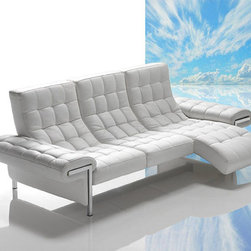 """VIG Furniture - VIG Furniture - Dima Ivan Full Leather Sofa with Chaise - Made in... - VIG Furniture - Dima Ivan Full Leather Sofa with Chaise - Made in Italy - VGDIIVANFeatures:Dima Ivan Collection Sofa with ChaiseModern tufted designUpholstered in full Italian white top grain leatherMade in Italy by expert furniture artisansAvailable in other special order colorsFeatures modular seats.Natural body contour gives the feeling of weightlessness when leg rest extendedStainless steel accent frameModern StyleSome assembly requiredDimensions:�W100"""" x D41"""" x H34""""Chaise: D55""""Seat Height: 16""""Armrest Height: 20""""Armrest Width: 14"""""""