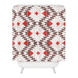DENY Designs - Holli Zollinger Native Rustic Shower Curtain - Who says bathrooms can't be fun? To get the most bang for your buck, start with an artistic, inventive shower curtain. We've got endless options that will really make your bathroom pop. Heck, your guests may start spending a little extra time in there because of it!
