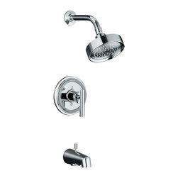 KOHLER - KOHLER Taboret Rite-Temp Pressure-Balancing Bath and Shower Faucet Trim - KOHLER K-T8224-4-CP Taboret Rite-Temp Pressure-Balancing Bath and Shower Faucet Trim with Lever Handle in Chrome