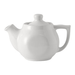 Tuxton - DuraTux 18 oz Tea Pot with Lid White - Case of 12 - DuraTux offers the widest selection of ceramic ovenware and accessory items in the industry. Our products are designed to handle the demands of any fastpaced environment  without breaking your budget. As with our dinnerware products all our ovenware items are fully microwavesafe, ovenproof, and dishwasherfriendly. Teapots, creamers, sugar holders- all items that are necessary for a kitchen. Our Teapots and Accessories are durable affordable and come in a variety of colors.
