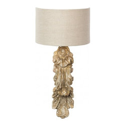 Aidan Gray Home - Annabella Wall Sconce - Unique hand carved wood wall sconce will be the highlight of your living space. Takes maximum standard 60 watt bulb(not included). UL listed and approved.