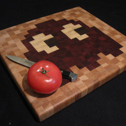 Pac-Man End-Grain Cutting Board, Blinky by David Abramson - This Pac-Man cutting board is adorable and quirky.