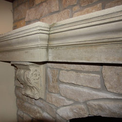 Cast Stone Mantel - Cast Stone by Architectural Justice
