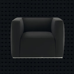 Poliform Shangai armchair - A stylistic research based on the most fundamental geometry for the Shangai armchair of Carlo Colombo.