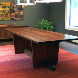 Mid Century Dining Table - American Black Walnut. 96″L x 42″W x 29″H.
