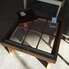 Recent refurbished window pane tables we just purchased (1 of 4). Just to give y