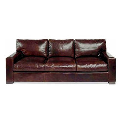 Leather Furniture Expo - Napa Leather Sofa, Brompton Cocoa, 96 Inch - The Napa Leather sofa is in a class of its own. This couch is the best of the best. A solid hardwood frame - 100% Italian leather makes this set one for the ages. The extra deep seating and glove soft leather will give you comfort for years to come. This set will continue to improve over the years like a fine wine. Similar sets are sold in stores for over $12,000. Don't miss out on the opportunity of a lifetime.